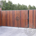 Beautiful gate made of ipe