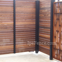 An exotic hardwood fence